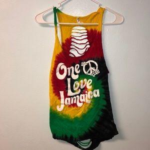 Tye dye one love Jamaica tank top